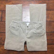 Ann Taylor Loft Julie Corduroy Jeans Size 12 Womens Bot Cut Brown Stretch