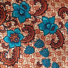 "Tube Sarong Aladdin Batik Alsi Indonesia Cotton Fabric 67"" X 41"" X 2-Sided 1970s"