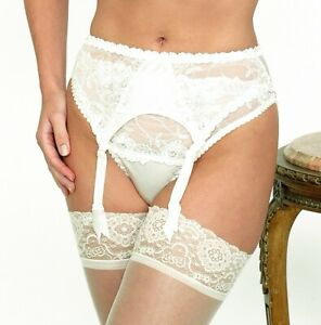 Sulis Silk Katrina pure silk lace bridal lingerie suspender belt made in England