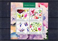 Grenada 2014 MNH Garden Flowers 4v M/S II Magnolia Calla Lily Geranium