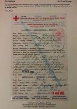 1944 Limburg Netherlands Censored Red Cross Letter Sheet Cover To London England