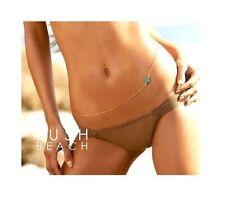 BELLY WAIST BODY CHAIN Bikini Turquoise BLUE CROSS Gold Harness Crossover UK