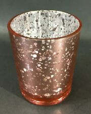 Rose Gold Glass Votive Candle Holders Silver Inside Set of 16 2.5""