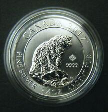 2017 Canada $8 1.5oz 1 1/2oz Canadian Grizzly Bear Fine Silver Bullion coin