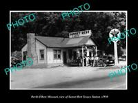 OLD 8x6 HISTORIC PHOTO OF DEVILS ELBOW MISSOURI THE TEXACO GAS STATION c1950