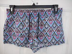 Women's Juniors Arizona Shortie Shorts Size Medium Pink Ethnic NEW
