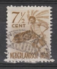 Nederlands Indie 336 TOP CANCEL TEGAL Netherlands Indies 1948 Inheemse dansers
