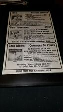 INXS/Gary Moore/Pete Townshend Rare Original Radio Promo Poster Ad Framed!