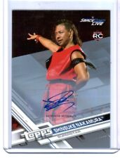 WWE Shinsuke Nakamura 2017 Topps Then Now Forever Silver Autograph Card SN 6/25