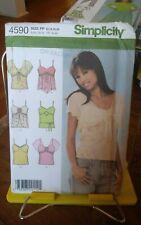 Oop Simplicity 4590 misses summer tops stretch knit high waist sz 12-18 NEW
