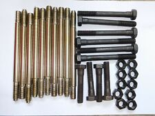 Triumph Stag NEW full set nickle plated head stud, bolt and nut kit.