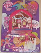 NEW MY LITTLE PONY FRIENDSHIP IS MAGIC MINI FOLD N GO FUN PLAYSET MINATURE PLAYS