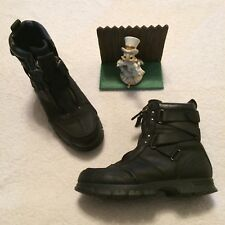 Men's POLO Ralph Lauren Zip Up Ankle Combat Boots Size 9.5 D 812976591 VERY NICE