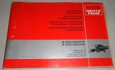 Teilekatalog / Ersatzteilliste Deutz Fahr  M 1600 / 1620 Hydromat