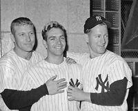 New York Yankees MICKEY MANTLE, BOBBY RICHARDSON & WHITEY FORD Glossy 8x10 Photo
