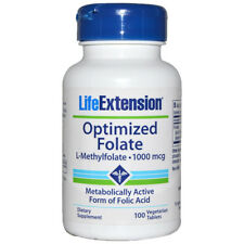 Optimized Folate L-Methylfolate 1000 mcg - 100 Veg Tabs Life Extension