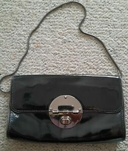 Mimco black patent leather clutch or handbag great condition