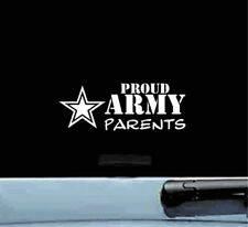 Proud Army Parents vinyl decal sticker bumper car truck family military soldier