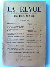 La Revue Des Deux Mondes du 01/01/1950; Les points vitaux du monde et guerre