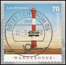 Leuchtturm Wangerooge 70 Cent - skl. gest. - WEISSE ZAHNSPITZEN - Mi.Nr. 3396