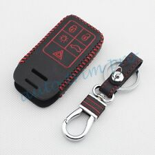 5 Button Leather Key Case Holder Cover For Volvo S80L XC60 S60 V40 V60 Accessory