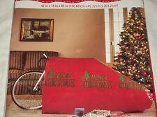 "Merry Christmas Tree Red Giant Gift Bag Bike Big Sack Holiday 26"" Wheels"