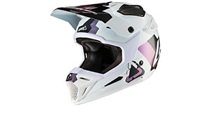 New Leatt GPX 5.5 V19.2 White Black Helmet Size L Motocross Enduro L 59-60cm