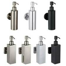 Stainless Steel Bathroom Soap Dispenser Liquid Shampoo Bottle Wall Mount Holder