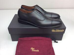 Allen Edmonds Park Avenue Cap-Toe Black Custom Calf Dress Mens shoe 10 3A AAA