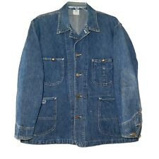VINTAGE ORIGINAL 1930s LEE UNION MADE JELT DENIM JACKET 91J CHORE WORKWEAR LARGE