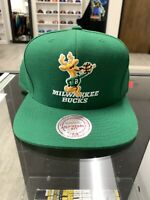 Mitchell Ness Milwaukee Bucks Snapback Hat Cap NBA Rare Hardwood Classics Retro