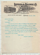 A196 Loverin & Browne grocers letterhead Chicago, IL Morris State Bank, Pony, MT