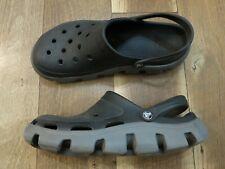 Crocs Men's Black/Gray Clogs Sandals Sz 12 USED
