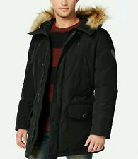 Guess Hooded Snorkel Coat M Size Black