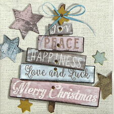 4x Paper Napkins - Christmas Wishes - for Party, Decoupage Craft