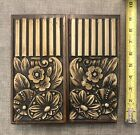 Antique Vtg Deco Furniture Panels Woodworking Makers Silver Washed AWESOME OLD