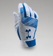 Under Armour Men's UA Clean Up Baseball Batting Gloves 1299530-400 RYL/WHT/RYL