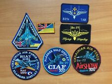 7 UKRAINE PATCH MILITARY ARMY AIR FORCE FIGHTER + RIAT 2018 raf 100 CIAF FLANKER