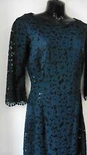 ZARA STUNNING BLACK LACE PENCIL DRESS SIZE M UK 10   R26
