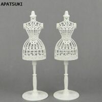 2set/lot Doll Accessories Display Holder Clothes Mannequin Stand For Barbie Doll