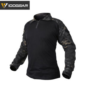 IDOGEAR G3 Combat Shirt w/ Elbow Pads Military Airsoft Tactical Clothing Camo