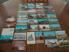 LOT OF 35 VINTAGE US POSTCARDS FROM THE 60'S - 3 HAVE WRITING ON THEM