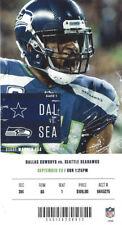 Dallas Cowboys vs Seattle Seahawks Ticket Stub 9/23/18 - Mint!!!