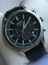 Lorus by Seiko VD53 X080 Gents Chronograph Watch With Black Leather Strap
