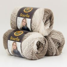 Lion Brand Yarn 826-206 Scarfie Yarn, Cream/Taupe (Pack of 3 skeins)