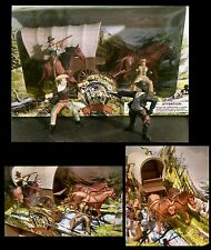 Mixed Brand Papo Wild West Western Cowboy Sheriff Figure Play Set Covered Wagon