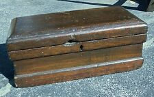 Antique Country Wood Primitive Carrpenters Toolbox / Tool Chest