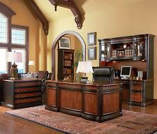 AWESOME EXECUTIVE OFFICE DESK CREDENZA & HUTCH OFFICE FURNITURE SET