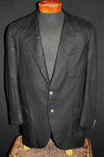 Rare Vintage Oxford Vêtements 1970'S Noir Couronne Cachemire Sport Veste Sz 44