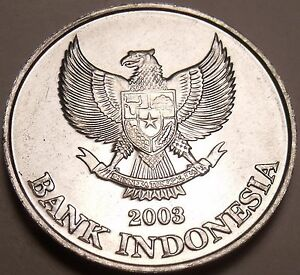 Large Germ Unc Indonesia 2003 200 Rupiah~Eagle With Spread Wings